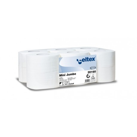 CELTEX CARTA IGIENICA MINI JUMBO IN PURA CELLULOSA 2 VELI (160 MT - CONF. 12 ROTOLI)