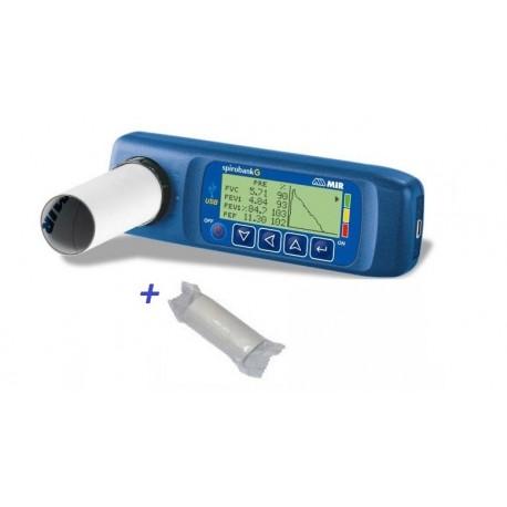 MIR SPIROMETRO DIAGNOSTICO SPIROBANK G USB (SPESE DI SPEDIZIONE GRATIS + 1000 BOCCAGLI MONOUSO)