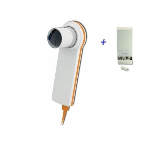 MIR SPIROMETRO PORTATILE USB MINISPIR NEW + 500 BOCCAGLI MONOUSO - (SPESE DI SPEDIZIONE GRATIS)