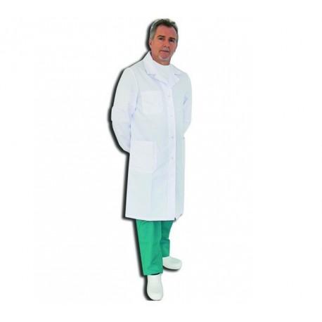 GIMA CAMICE MEDICO UOMO IN COTONE COLORE BIANCO