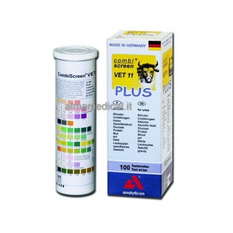ANALYTICON STRISCE URINE VETERINARIA - 11 PARAMETRI - (CONF. 100 PZ.)