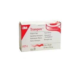 3M TRANSPORE 3M - 25MM x 9,14MT (CONF. 12 PZ.)