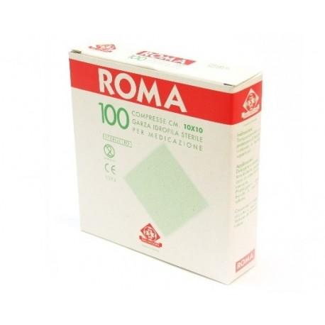 SALVADORI COMPRESSA DI GARZA PIEGATA STERILE ROMA 10X10CM - (CONF. 100 PZ.)