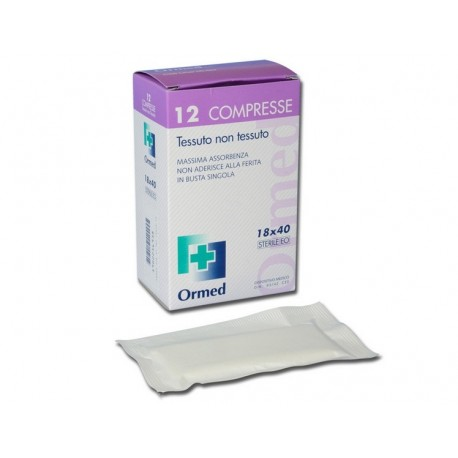 ORMED COMPRESSA STERILE IN TNT 18 X 40 CM (CONF. 12 X 30 PZ.)