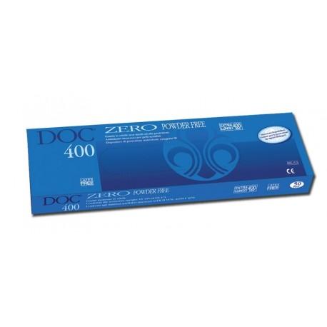 GARDENING GUANTI IN NITRILE - DOC ZERO 400 EXTRA LUNGHI - SENZA POLVERE 10,5GR (CONF. 50 PZ.)