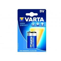 """VARTA BATTERIE ALKALINE VARTA HIGH ENERGY - TRANSISTOR """"9V"""" (CONF. 10 X 1 PZ.)"""