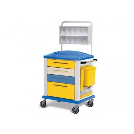 GIMA CARRELLO MEDICAZIONE - STANDARD - 4 CASSETTI - 82X64X100