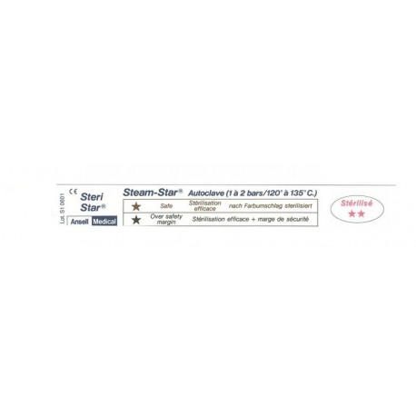 ANSELL MEDICAL TEST PER AUTOCLAVE STEAM STAR (CONF. 1.000 PZ.)