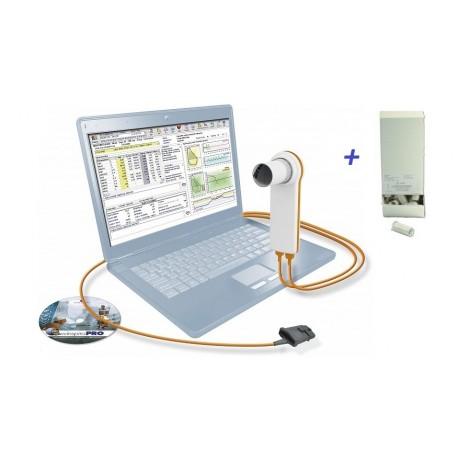 MIR SPIROMETRO PORTATILE USB MINISPIR CON OSSIMETRO + SOFTWARE + 500 BOCCAGLI MONOUSO (SPESE DI SPEDIZIONE GRATIS)
