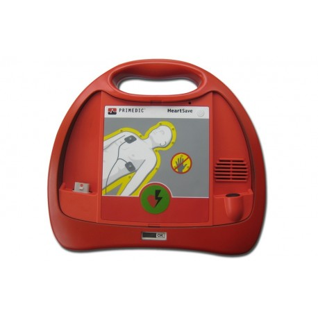 PRIMEDIC DEFIBRILLATORE HEART SAVE PAD CON BATTERIA AL LITIO - 100 SCARICHE CON 360J, 3 ANNI STANDBY