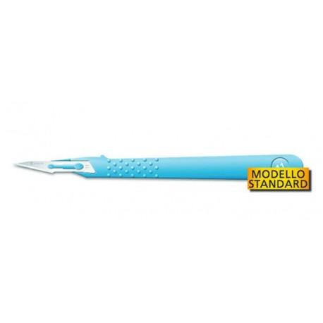GIMA BISTURI MONOUSO IN ACCIAO INOX STERILI MODELLO STANDARD - Nº 10/11/15/20/21/22/23/24 - (CONF 10 PZ.)