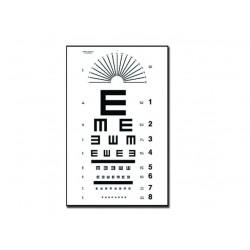 """GIMA TAVOLA OPTOMETRICA TUMBLING """"E"""" 28 x 56 - 6.1M"""