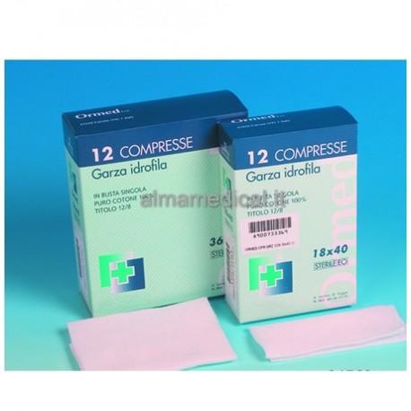 ORMED COMPRESSA DI GARZA PIEGATA STERILE - 18X40 CM - (CONF. 600 PZ.)