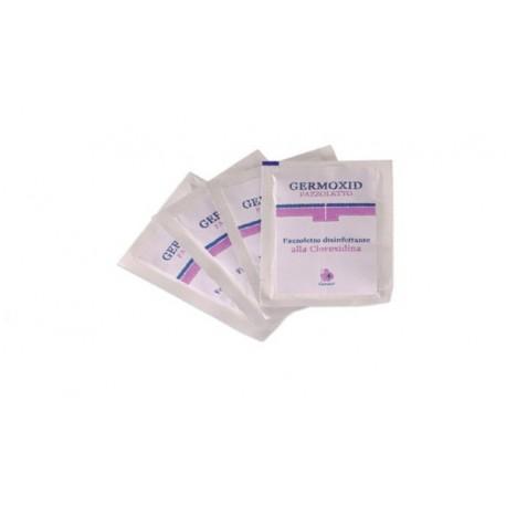 GERMO SALVIETTINE DISINFETTANTI ALLA CLOREXIDINA GERMOXID - (12 CONFEZIONI DA 10 SALVIETTINE A CONFEZIONE)
