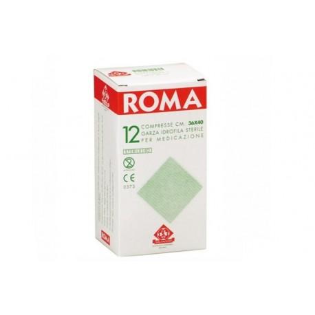 SALVADORI COMPRESSA DI GARZA PIEGATA STERILE ROMA 36X40CM - (CONF. 12 PZ.)