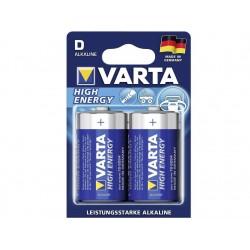 "VARTA BATTERIE ALKALINE VARTA HIGH ENERGY - TORCIA ""D"" (CONF. 10 X 2 PZ.)"