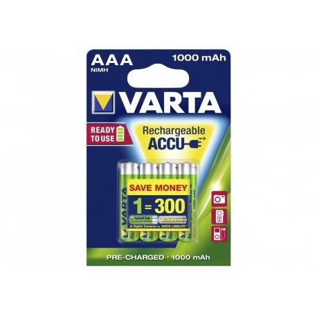 VARTA BATTERIE RICARICABILE VARTA POWER PLAY - MINISTILO AAA 1.000 mAH - (CONF. 10 X 2 PZ.)