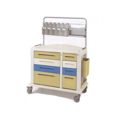 GIMA CARRELLO MEDICAZIONE - LARGE - 8 CASSETTI - 115X64X100