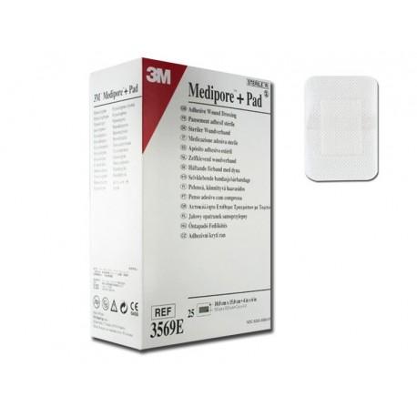 3M MEDIPORE + PAD - 10 X 15 CM - (CONF. 25 PZ.)