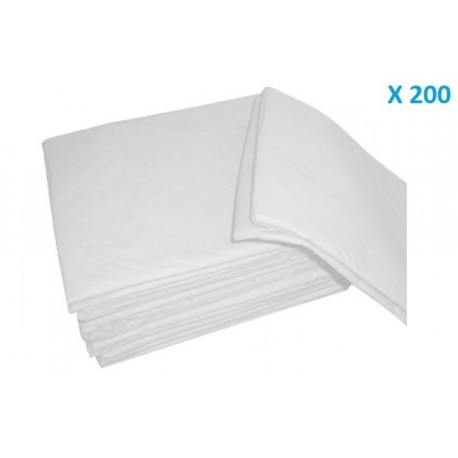 MEDICALS LENZUOLA MONOUSO 140X240 IN TNT BIANCO (CONF. 200 PZ)