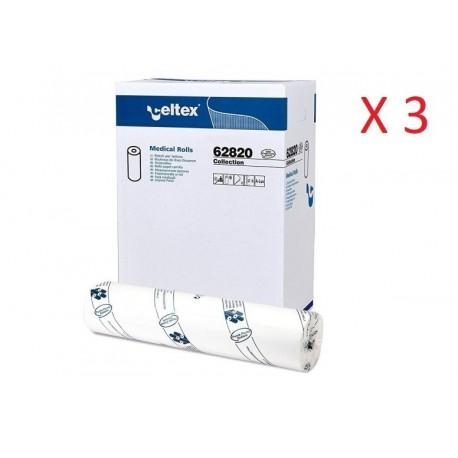 CELTEX COLLECTION LENZUOLINO MEDICO PURA CELLULOSA 2 VELI (60CM x 80MT - CONFEZIONE DA 18 ROTOLI)