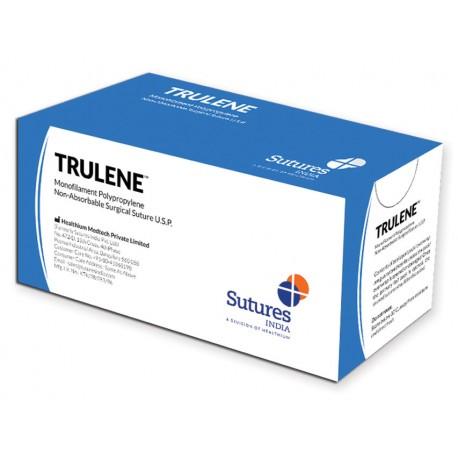 HEALTHIUM SUTURA NON ASS. TRULENE CALIBRO 1, CURVA 1/2, AGO 30 MM - 70 CM - BLU CONFZ. 12 PZ.