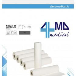 ALMAMEDICAL LENZUOLINO MEDICO PURA CELLULOSA 2 VELI (60CM x 80MT - CONFEZIONE DA 6 ROTOLI)